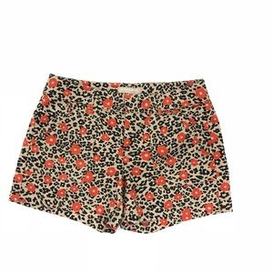 Banana Republic Factory Floral Animal Print Shorts